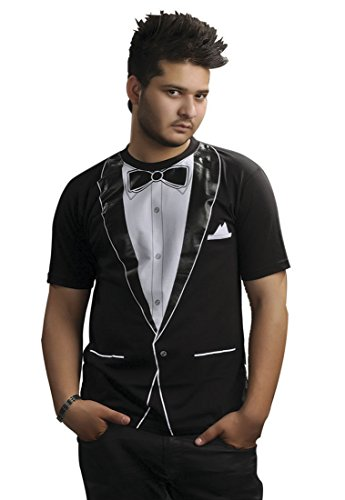 "Nerd, con Maglietta da bambino smoking da uomo, modello: ""Irish T-Shirt a stampa Fancy Dress Tuxedo Printed T-Shirt M"