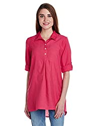 People Women's Tunic Top (P10202362375177_Pink_X-Small)