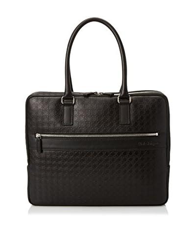 Salvatore Ferragamo Men's Gamma Briefcase, Deep Black