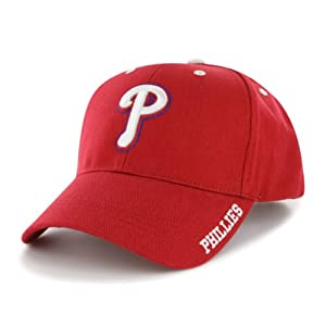 MLB Philadelphia Phillies Men's Frost Structured Adjustable Cap, One Size, Red
