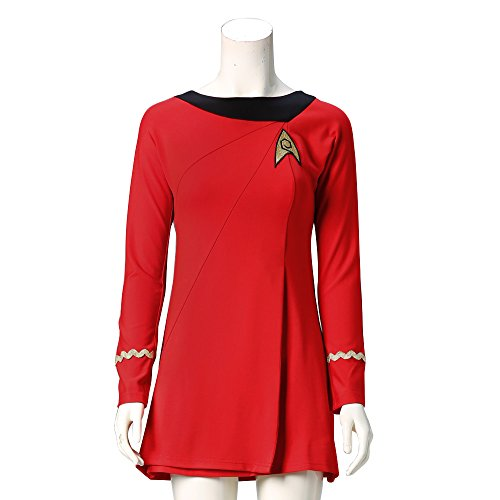 Star Trek Cosplay Female Duty Deluxe Red Dress Uniform Costume