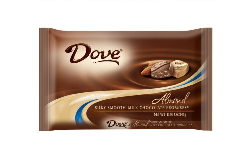 Dove Milk Chocolate Almond Promises, 8.5-Ounce Packages (Pack of 4)