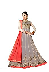 Styliner marvellous floor lenght embroidery suit