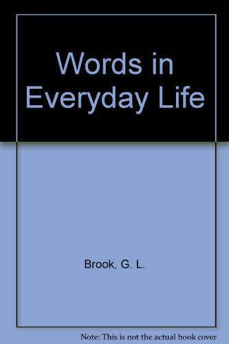 Image for Words in Everyday Life