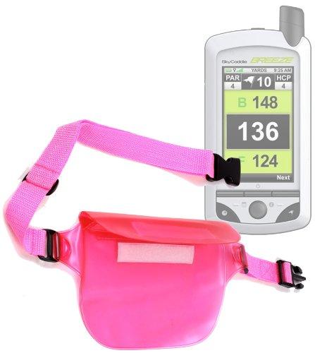 Duragadget All Purpose Pink Waterproof Waist Bag / Fanny Pack For Skycaddie Sg 2.5 Lite, Skycaddie Breeze, Skycaddie Sgx, Skycaddie Sgxw