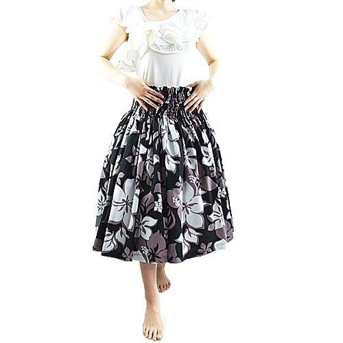 ■ JA3332 Hula single Pau skirt black x white 70 cm length | Hula skirt | Hula outfit Pau skirt | Hula costume | Hula Pau skirt | Hula Pannier | hula dancing costume dress | Hula Hawaii | muumuu | Hula dress | Hula store | Hula