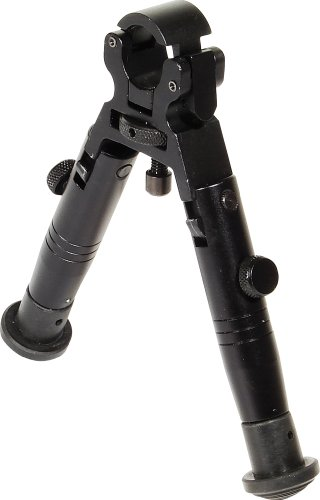 UTG Extra Low-Profile Fixed Height and Foldable Universal Clamp-on Shooters Bipod