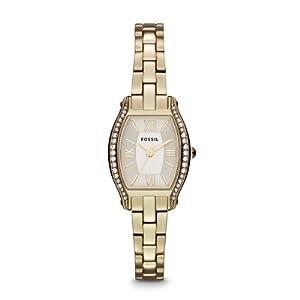 Fossil Damen-Armbanduhr XS Georgia Analog Quarz Leder ES3286