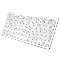 Anker® T300 Ultra-Slim Mini Bluetooth 3.0 Wireless Keyboard for iPad Air, iPad Mini 2, iPad Mini, iPad 4 / 3 / 2, Galaxy Tab and other Tablets - White from Anker