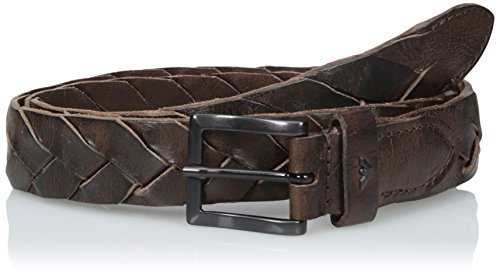Armani-Jeans-Mens-B9-Braided-Leather-Belt