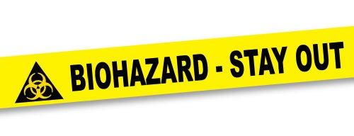 BigMouth Inc Biohazard Crime Scene Tape, 50 Foot Roll - 1
