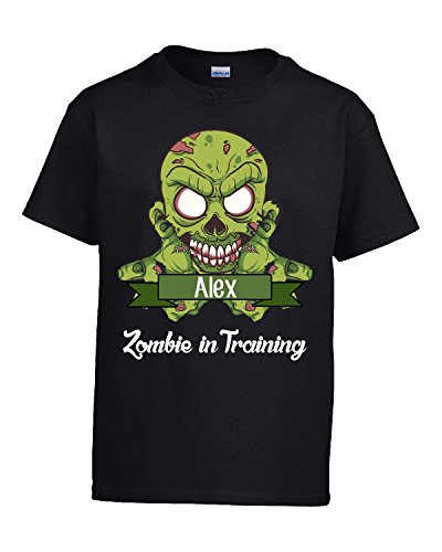 Halloween Costume Alex Zombie In Training Funny College Humor Gift - Kids T Shirt