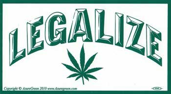 6 Pack Legalize Marijuana bumper sticker