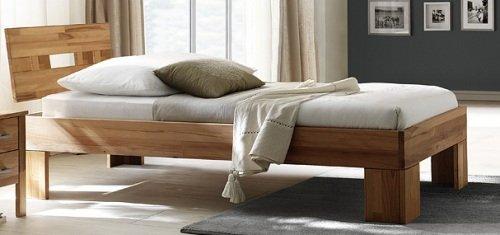 6-6-5-2150: schönes Schlafzimmerprogramm AAS – Kernbuche vollmassiv geölt – Einzelbett LF 90x200cm