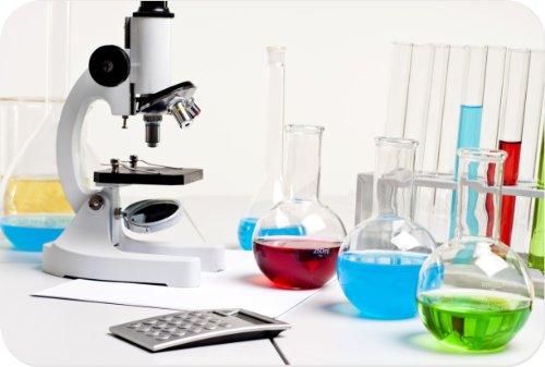 Rikki Knighttm Microscope Bright Color Fluid Bottles Small Glass Cutting Board