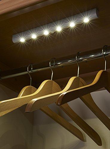 Auraglow-Automatische-LED-Lichtleiste-Bewegungsmelder-Kabelloses-Superhelles-mit-6-LEDs-Tageslicht-wei