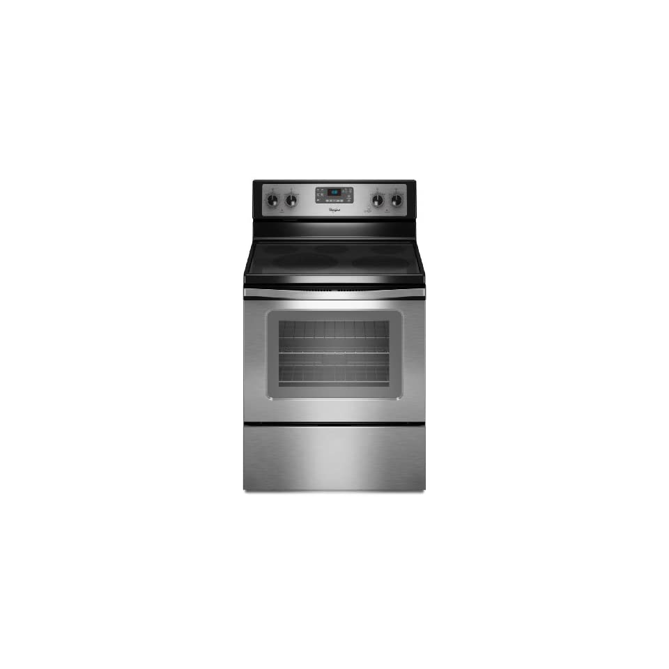 Whirlpool WFE520C0AS 30 Stainless Steel Electric Smoothtop Range