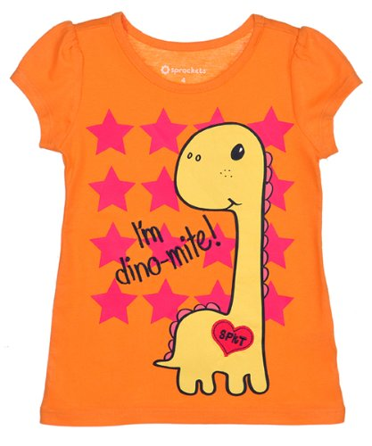 Sprockets Baby-girls Infant Dino Mix and Match Puff Sleeve Tee