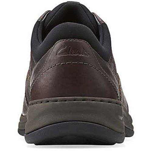 Clarks Men's Portland 2 Tie Oxford,Brown Leather,9 XW US