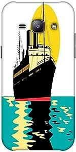 Snoogg passenger cargo ship Hard Back Case Cover Shield ForSamsung Galaxy J1