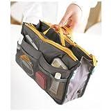 Handbag Pouch Bag in Bag Organiser Insert Organizer Tidy Travel Cosmetic Pocket,Gray