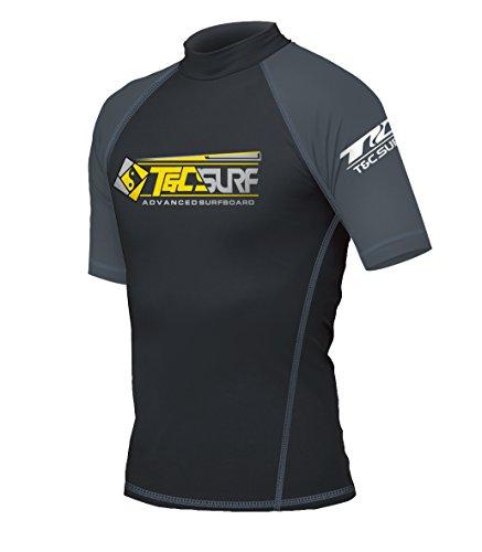 T&C SURF DESIGNS RUSH GUARD (半袖) BLACK TRG-35300 ラッシュガード UVケア メンズ(BLACK/XL)