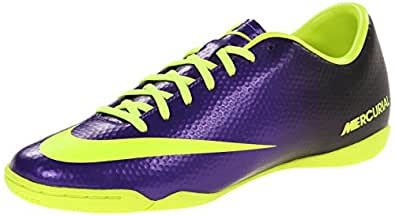 Mens Nike Mercurial Victory IV Indoor Soccer Cleat Electro Purple/Black/Volt Size 8