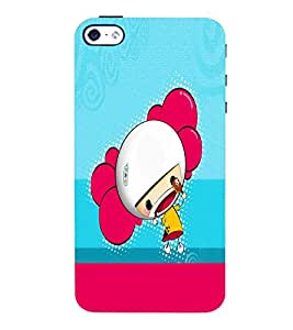 PrintVisa Cute Cartoon Girl 3D Hard Polycarbonate Designer Back Case Cover for Apple iPhone 4 :: 4S