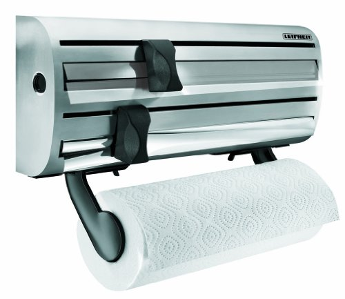 Leifheit Wall Mounted Paper Towel Foil And Plastic Wrap