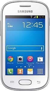 Samsung Galaxy Fame Lite Smartphone (8,9 cm (3,5 Zoll) TFT-Display, 850 MHz Single-Core, 512MB RAM, 3.2 Megapixel Kamera, 4GB interne Speicher, USB 2.0, Android 4.1) pearl-white