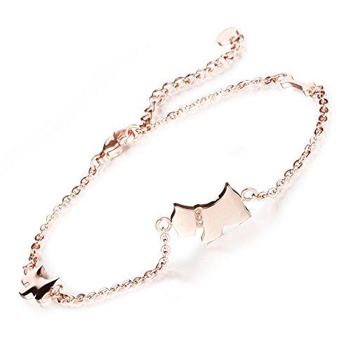 kksuper bijoux mignon chien os bracelet femme cheville sandale aux pieds acier inoxydable. Black Bedroom Furniture Sets. Home Design Ideas