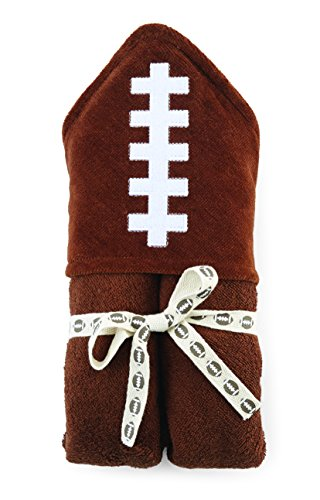 Mud Pie Hooded Towel, Football - 1