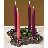 Celtic Cross Advent Wreath ~ Stone Look