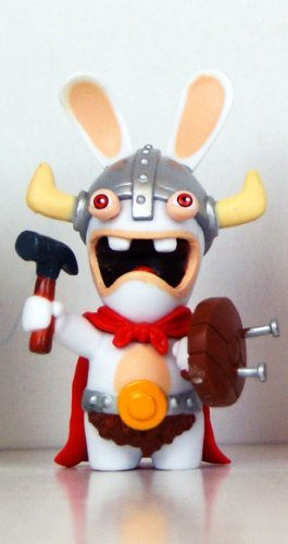 "Rabbids - Travel in Time - 2.75"" Figure - Viking with Hammer - 1"