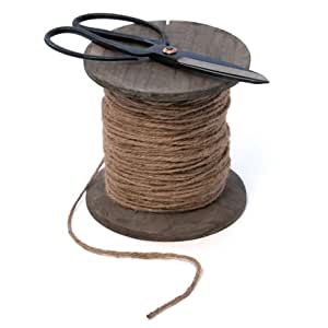 Rustic Spool of Linen String with Old Style Scissors