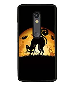 printtech Cool Cat Ghosts Back Case Cover for Motorola Moto G Turbo Edition