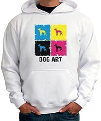 Italian Greyhound DOG ART POP ART Mens Hoodie