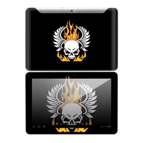 Flame Skull Design Decorative Skin Cover Decal Sticker for Samsung Galaxy Tab 10.1 Android Tablet