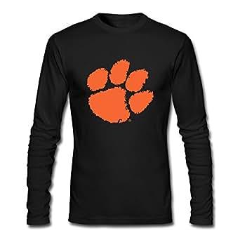 Ywt Clemson University Tiger Paw Logo Male T Shirt Normal