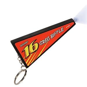 NASCAR Greg Biffle LED Pennant Keychain - Orange by R R Imports