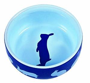 Ceramic Pet Food Bowl with Rabbit Motif 250ml 11cm