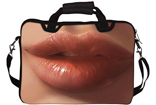 """Snoogg Crazy Lips 2565 stampa con tracolla per Laptop da 15/15,6 """""""
