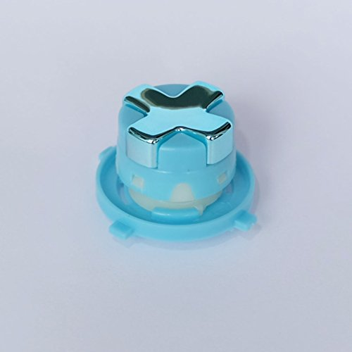 Oem Chrome Light Blue/Light Blue Transforming D-Pad/Rotating Dpad For New Version Xbox360 Controller
