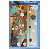 Purlees Christmas PREMIUM FANCY snowflakes, decorative window stickersby Purlees