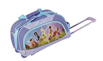 Disney By Heys Luggage Disney Fairies Follow The Pixie Dust 18 Inch Soft Side Rolling Duffel Bag, Fairies, One Size