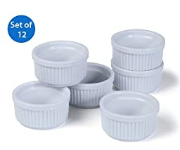 Prepworks from Progressive International CRR-6 Porcelain Stacking Ramekins (Set of 12)