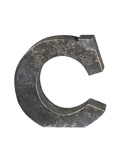 Privilege, Inc. Metal Letter C Design, Silver