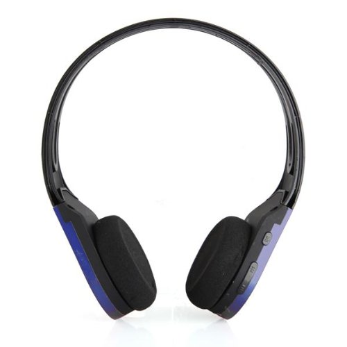 Wireless Sport Running Mp3 Player Headset Headphone With Fm Blue