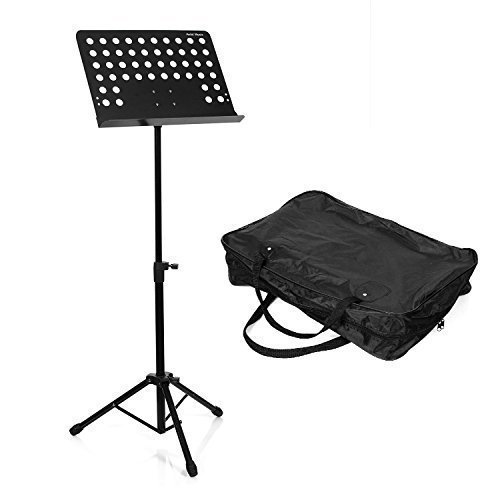 Hola! HM-MS+ Professional Folding Orchestra Sheet Music Stand + Carrying bag (Music Stands Portable compare prices)