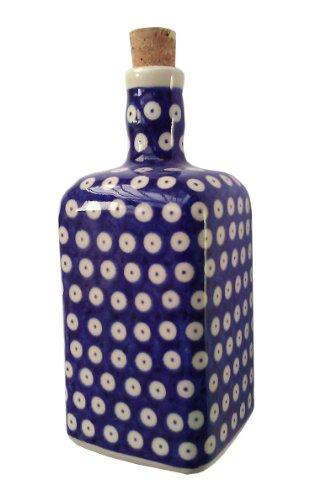 classic-boleslawiec-pottery-hand-painted-ceramic-olive-oil-or-vinegar-bottle-07l-013-t-001